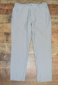 $100 Adidas Golf Men's Adipure Tech Pants Size 36x32 Grey Upf 50+ Ultimate B28
