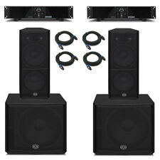 "Wharfedale Impact 2400wrms 18"" Subs 2x15"" Tops Bi-amp PA System - Big Band Disco"