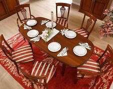 Esstisch Küchentisch Oval Ausziehbar Klassisches Gestell Nussbaum Holzfurnier
