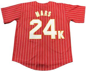 Large Bruno Mars 24K Hooligans Baseball Jersey Men Adult Stitched