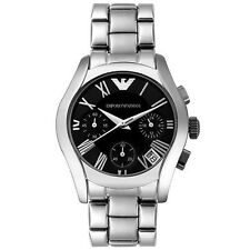 Emporio Armani Silver/Black Quartz Analog Women's Watch AR0674
