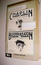 Double Feature Chaplin Character Born Buster Keaton Great Stone Face Betamax New