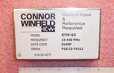 STM-S3-19.440MHZ CONNOR WINFIELD STRATUM 3 SIMPLIFIED CONTROL TIMING MODULE NOS