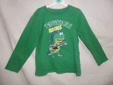 Rebel Boys Green Tyrannosaurus Rocks Long Sleeve T-Shirt Size 4-5 Years