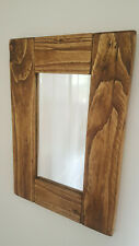 Handmade Rustic Wooden Mirror Chunky Solid Reclaimed Wood Farmhouse/Country