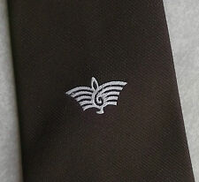 Vintage Tie MENS Necktie Crested Club Association Society TREBLE CLEF