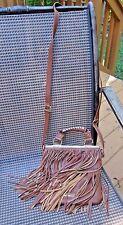STEVE MADDEN Cognac Brown Fringe Western Crossbody Shoulder~Hand Bag  NWOT