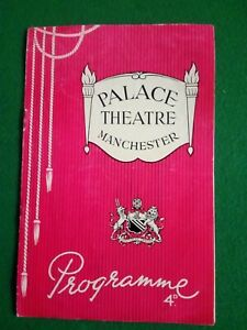 ANNA NEAGLE GLORIOUS DAYS PALACE THEATRE MANCHESTER, 1952 PREMIERE Programme