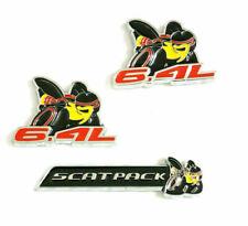 New 3pcs 6.4L Super Scat Pack Bee Emblem Badge Sticker Trunk fit all cars