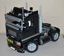 NEW LEGO TECHNIC BLACK 8258 V8 CUSTOM/MOC SEMI TRUCK 13 inches long
