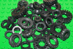 Lego - 48 Gummi Reifen, verschiedene Größen z.B. Technik Reifen 40 x 10mm 3482