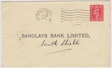(K110-8) 1947 GB 1d to Barclay's Bank south Shields used (H)