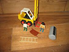 Vintage Playmobil construcción edificio fábrica sitio Carretilla Elevadora figura de Juego de escalera