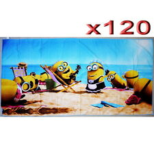 120pc Wholesale Bulk lots Kids Children Minions Bath Beach Towel Clearance Sale