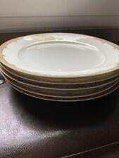 Antique A. Lanternier & Co. Limoges, France LNT39 Pattern Set of 4 Dinner Plates