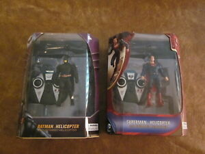 Lot of Superman & Batman RC Helicopters - World Tech Toys - New!