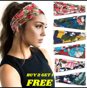 NEW Women's Wide Elastic Stretchy Headband Hair Band for Running Fitness Sports
