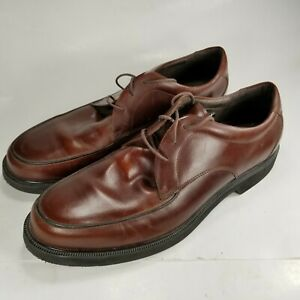 Rockport Men's Leather Loafers Laces Up Shoes Size 12 M Brown 501838