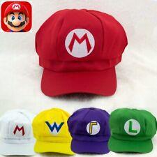 New Luigi Bros Dome Cotton Caps Classic Anime Super Mario Cosplay Props Hats Us