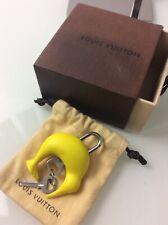 Authentic Louis Vuitton America's Cup Padlock & Key, Yellow Kadena Kiwi Cover.