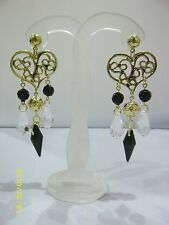 Hearts & Love Earring Vintage Costume Jewellery (1980s)