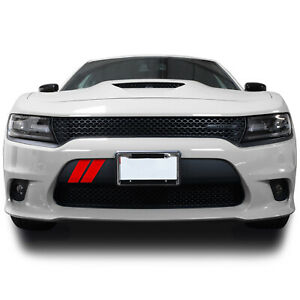 Front Bumper Hash Marks Stripes Vinyl Decal Fits Dodge Charger 2015-2021 Matte