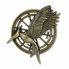 THE HUNGER GAMES CATCHING FIRE MOCKINGJAY BRONZE BROOCH PIN