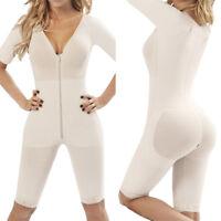 Post Surgery Front Zipper Full Body Tummy Shaper Waist Trainer Slimming Bodysuit