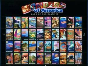 US 2006 Wonders of America - Sheet of 50 (4033-72) . Mint Never Hinged