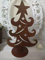 Edelrost Tannenbaum Weihnachten Christmas  Deko Rost  Shabby Vintage Landhaus