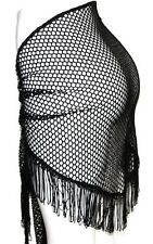 Burlesque EMO Gypsy Gothic Tribal Belly Dance Dancing Fringe Net Hip Scarf Belt