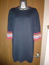 next navy cotton mix tunic jumper size 14