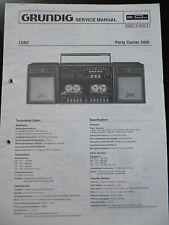 ORIGINALI service manual GRUNDIG PARTY CENTER 2400