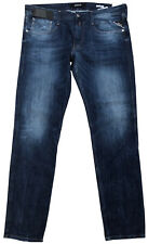 Replay Men's Anbass M914 Jeans 36 X 32 Slim SKINNY Fit Blue Stretch