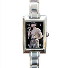 Tim McGraw Rectangular Italian Charm Watch