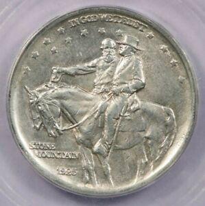 1925-P 1925 Stone Mountain Half Dollar ICG AU58 Details