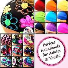 Cute Headbands Wide Sport Athletic Workout Stylish Bolder Adults Youth  [Doodle]