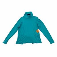 Columbia Cedarpines Omni-Shade Pullover Top Shirt Teal Split Hem Women's Size M