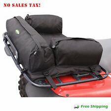 ATV Rear Deluxe Padded Racks Bag Pack MOSSY Black Secure Storage Cargo Back New