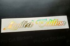 Limited Edition Gold Hologram Neo Chrome Custom Car Funny Novelty Sticker Decal