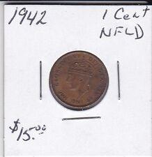 1942 Newfoundland 1 cent coin