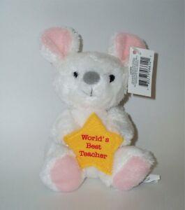 RUSS Berrie Mouse Soft Plush Toy/Teacher's Pet Gift - World's Best Teacher Small