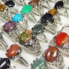 Freeshipping 20PCS 100%Natural stone fashion Mix Rings wholesale jewelry lots