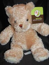 "Animal Adventure Hang Tag Tan Sitting 9"" Teddy Bear Stuffed Animal Lovey"