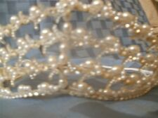 BRIDAL HEADPIECE..WHITE PEARLS & SWAROVSKI RHINESTONES...TIARA...BRAND NEW