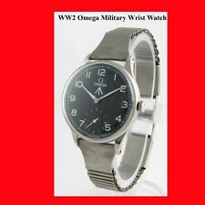 WW2 Mint Steel Omega Non-Magnetic Military Wrist Watch 1945
