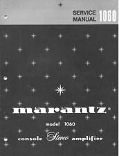 Marantz 1060 estéreo amplificador manual de servicio de CD-R