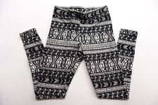 New American Eagle Womens #5992 Black & White Tribal Print Legging Pants Size XS