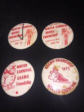 1965 - 71 Adams-Friendship Wisconsin Pin Back Button (4) Winter Carnival