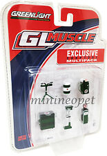 GREENLIGHT 13154 MUSCLE SHOP TOOLS TEXACO OIL ACCESSORIES FOR 1/64 GREEN MACHINE